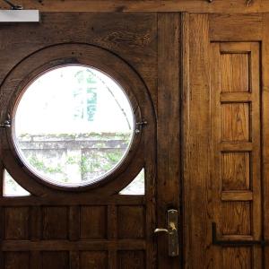 Innenansicht der restaurierten Haustüre