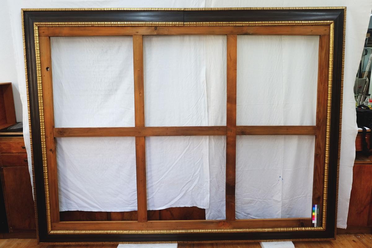 Rahmen in restauriertem Zustand in unserer Werkstatt