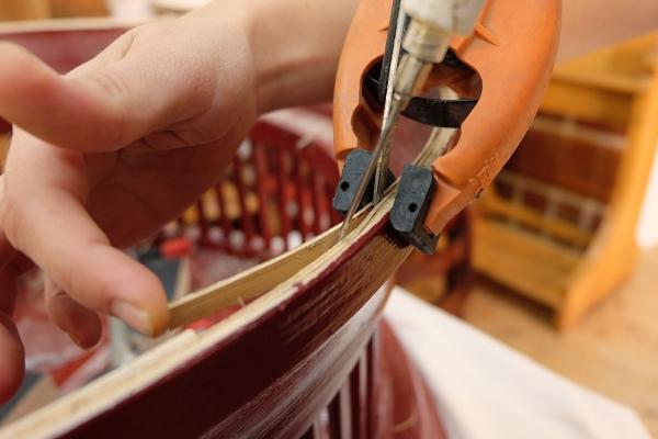 Konstruktive Verleimung von Furnierschichtholz | Restaurierung Beer